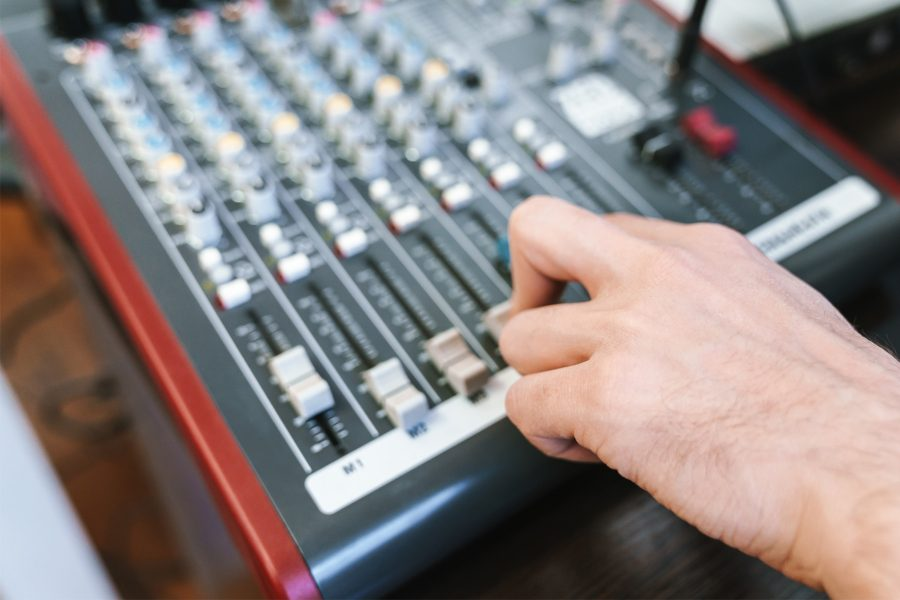 Radio Interview Mixing Board